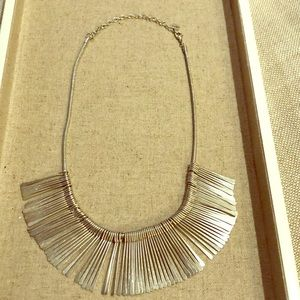 Silver fringe necklace by S&D